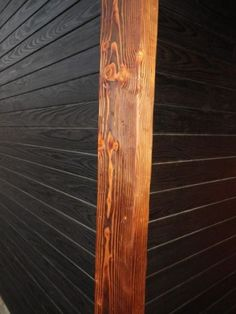 Charred yellow pine siding (Delta Lumber & Millworks)- I love the light and dark wood effect.  Combine this with barn wood and I think that I'd be in heaven.