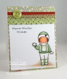 PI Warm Winter, PI Holiday Hugs - Michele Boyer #mftstamps