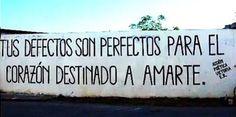 Los defectos son perfectos para el corazón destinado a amarte! #Acción Poética Victoria #accion