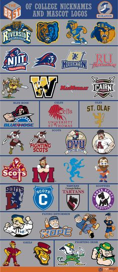 The Best of College Nicknames and Mascots logos - Page 2 - Sports Logos - Chris Creamer's Sports Logos Community - CCSLC - SportsLogos. College Football Logos, Sports Team Logos, College Sport, Wizards Logo, Spartan Logo, Sports Decals, Logo Sign, Great Logos, Fighting Irish