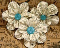 vintage-book-paper-flowers - Wedding Ideas, Wedding Trends, and Wedding Galleries