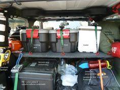 Kawa's JK DIY Storage Shelf & Load Plan - Jeep Wrangler Forum  You can pack a lotta crap in a Jeep