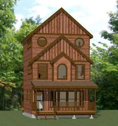 20x20 Tiny House 1 067 Sq Ft PDF Floor Plan Model 8B