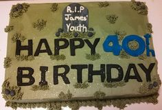 40th Birthday cake RIP youth created by Alicia @ Phat N Sassy Sweets
