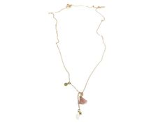 Gold plated fine necklace with pendant and silk tassel charm by www.sophisticatedgold.nl  Fashion, women, jewelry, gold, sophisticated, necklace, nude, sophisticated gold