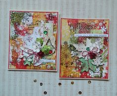 My Mixed Media Christmas Cards...