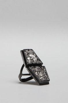 Totokaelo - Lady Grey - Reflected Symtra Ring - Gunmetal/Bismuth