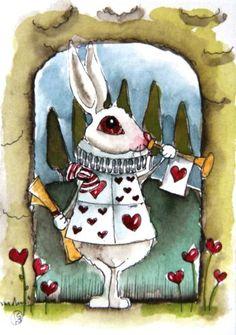whimsical alice in wonderland by Lucia Stewart