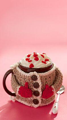 Ravelry: Hug Me Mug Cozy pattern by Lily / Sugar'n Cream