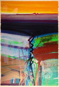 Western Boundary Silkscreen Print by Barbara Rae