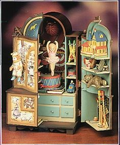 """Enesco Action Music Box """"The Dream Keeper""""  - Vintage 1989 Never used from Lynne's Collection Exclusively on Ruby Lane"""