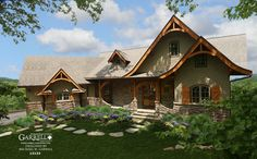 Hot Springs Cottage-Gable, House Plan # 12132, Mountain Style House Plans, Rustic House Plans, Lake House Plans