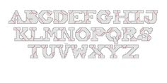 baseball cross stitch alphabet...5 page print out