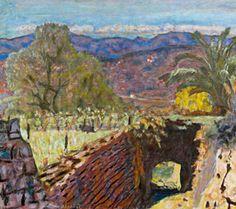 Pierre Bonnard, Paysage du Cannet par temps de Mistral, 1922, Huile sur toile, 49 x 62 cm, musée Bonnard