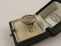 Unusual Antique Victorian Aesthetic Silver & Two-Colour Gold Ring from blackwicks on Ruby Lane