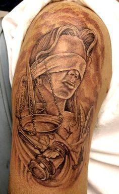 lady justice tatoos | Justice Tattoos Scale...