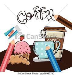 Vector - café, Tienda - stock de ilustracion, ilustracion libre de, stock de iconos de clip art, logo, arte lineal, retrato de EPS, Retratos, gráficos, dibujos gráficos, dibujos, imágenes vectoriales, trabajo artístico, Arte Vectorial en EPS