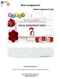 bestassignment.net is a leading online education service provider worldwide have quality math assignment help, math homework help and online math tutoring services for students. You can get speedy and cost effective math help services with us.\n