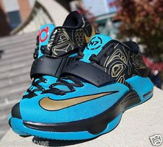 NIKE KD7 N7 KEVIN DURANT 7 KD VII 2014 705135-486 Turquoise Gold Black Red  NEW 1f2360a8af