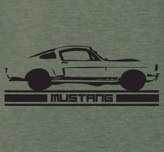 Ford Mustang GT350 vintage art T-Shirt by XBrosApparel