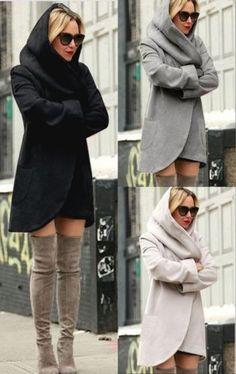 Fashion-Women-039-s-Slim-Long-Coat-Jacket-Windbreaker-Parka-Outwear-Cardigan-Coat