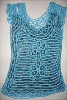 BORDADOS CENE: BLUSAS TEJIDAS Y EN CORDÓN PLANO Bruges Lace, Irish Lace, Crochet Blanket Patterns, Crochet Top, How To Wear, Women, Fashion, Romanian Lace, Crochet Clothes