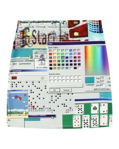 OMG!!!!! Check out what I found on Shop Jeen.com!!! What do you think?!?! WINDOWS 95 SKIRT - PREORDER