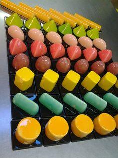 monoporzioni arcobaleno cioccolato Omar Busi