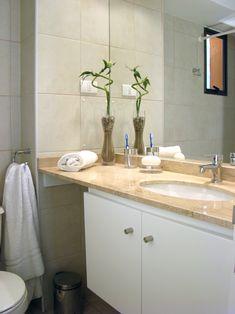 How To Install A Modern Vanity Countertop - StackStreet Best Bathroom Vanities, Bathroom Hacks, Bathroom Cleaning, Bathroom Renovations, Small Bathroom, Bathroom Remodelling, Bathroom Cabinetry, Kitchen Remodeling, Master Bathroom