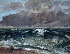 Gustave Courbet - La vague, 1867-1869, oil on canvas