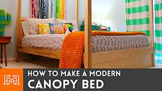 Home Decor Furniture, Diy Home Decor, Modern Canopy Bed, How To Make Bed, Bunk Beds, Mattress, To My Daughter, 3d Printing, Woodworking