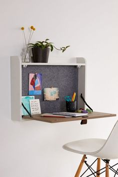 101 Innovative Folding Desk Ideas For Small Space Solution - Fold up tables are among the handy things that a home can have, particularly if living space is a great concern. In fact, this particular furniture is. Fold Out Desk, Folding Desk, Wall Mounted Desk Folding, Ikea Fold Down Table, Space Saving Furniture, Find Furniture, Space Saving Desk, Furniture Decor, Bedroom Furniture