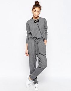 Buy ASOS Jersey Jumpsuit with Long Sleeves and Drawstring Waist in Sweat at ASOS. With free delivery and return options (Ts&Cs apply), online shopping has never been so easy. Get the latest trends with ASOS now. Asos, Drawstring Waist, Fashion Online, What To Wear, Cool Outfits, Jumpsuit, Normcore, Rompers, My Style