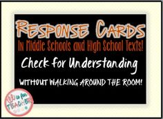 Tired of plain multiple choice questions and true or false questions? Tired of waiting to the end of the class to see if your students mastered the objective? Use these response cards :) This product contains response cards for:True or False AnswersMultiple Choice AnswersHappy Teaching :)