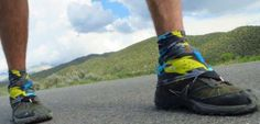 Shoe gaiters for trail running