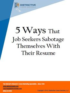 Searching for a job? Don't sabotage your results. Make sure to avoid these resume mistakes and secure your new job.