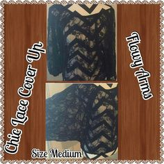 Black Lace Cover Up Taking Offers Condtion: Like New   94%Rayon 6% Spandex  Great for a night out   Can Be Worn Over Just About Everything  Freebies Included Joyce Leslie Tops