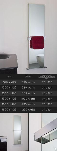 Mirage Heated Mirror Towel Rail Radiator (58C)