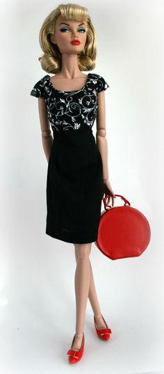Black & White Dress for 16 inch Fashion doll by SweetSixteenShop, $12.99