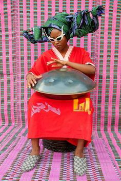 Still from Hassan Hajjaj, My Rock Stars Experimental Volume via LACMA. Andy Warhol, James Rosenquist, Portraits, Afro Punk, We Are The World, My Rock, Christopher Nolan, Mode Style, Belle Photo