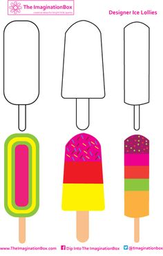 Get designing and inventing your own most colorful and delicious ice lollies this summer!