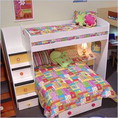 L Shaped Bunk Bed with Storage Stairs