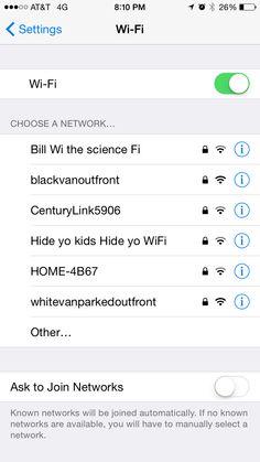 humorous wifi names