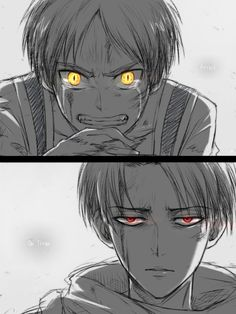 Attack on Titan ( Shingeki no kyojin) Eren Jäger & Levi Ackerman