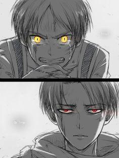 Attack on Titan ( Shingeki no kyojin) Eren Jäger & Levi Ackerman