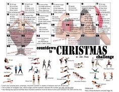 Workout Challenge Workout - Countdown to Christmas - You guess it, another month … another challenge to share. I'm not great with challenges. I start out with good intentions and then somehow get lost, then stop it all together. Core Challenge, Thigh Challenge, December Challenge, 30 Day Workout Challenge, Monthly Challenge, Challenge Group, Challenge Accepted, Christmas Challenge, Christmas Countdown