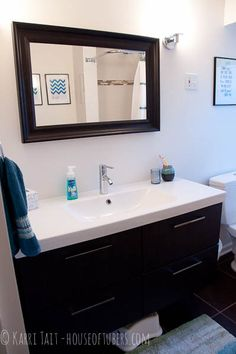 From Houzz Two Ikea Mirrored Medicine Cabinets Are Hung Side By