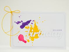 splash birthday clean&simple card