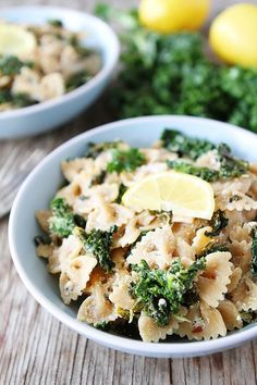 Goat Cheese Lemon Pasta with Kale | Recipe