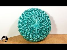 Round Smocked Pillow Tutorial: Make Your Vintage Cushion - YouTube